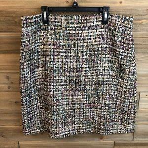 Ann Taylor metallic tweed skirt size 12